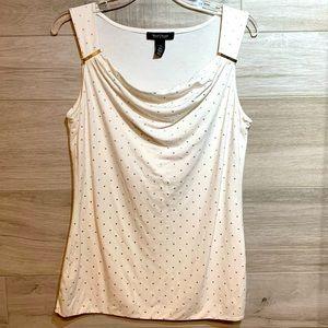 4/25$White House Black Market white sleeveless top